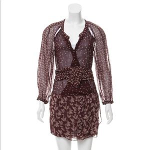Isabel Marant Étoile Floral Dress in Burgundy